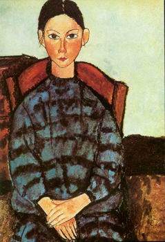 Sitting Lady painting, a Amedeo Modigliani paintings reproduction, we never sell Sitting Lady poster