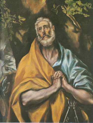 St.Peter in Tears painting, a El Greco paintings reproduction