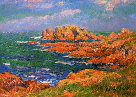 The Rocks at Ouessant painting, a Henri Moret paintings reproduction, we never sell The Rocks at