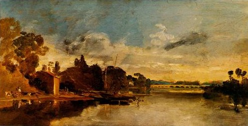 The Thames Near Walton Bridges painting, a Joseph Mallord William Turner paintings reproduction