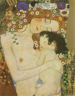 Three ages of Woman,Die drei Lebensalter painting, a Gustav Klimt, Austria paintings reproduction,
