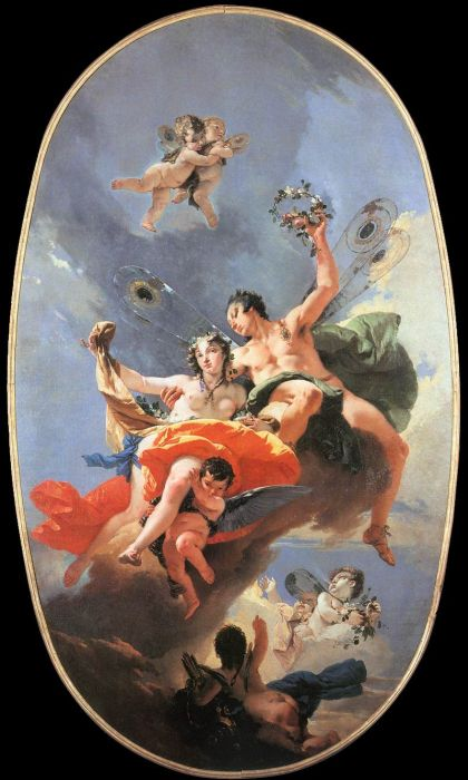 Tiepolo Reproductions- The Triumph of Zephyr and Flora