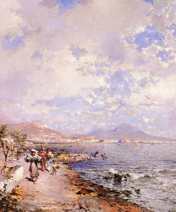 Unterberger Oil Painting Reproductions - The Bay of Naples