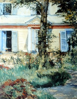 Villa at Rueil painting, a Edouard Manet paintings reproduction, we never sell Villa at Rueil poster