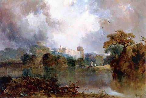 Windsor Castle painting, a Thomas Moran paintings reproduction, we never sell Windsor Castle poster