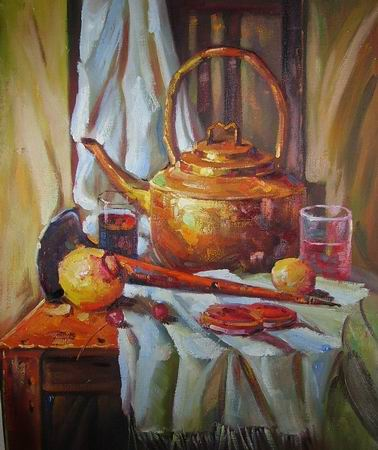 Still life paintings painting of table with things