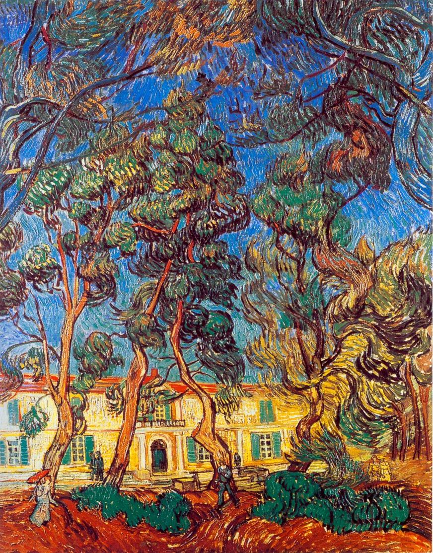 madhouse garden painting, a Vincent Van Gogh paintings reproduction, we never sell madhouse garden