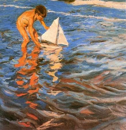 sail boat painting, a Joaquin Sorolla Bastida paintings reproduction, we never sell sail boat poster