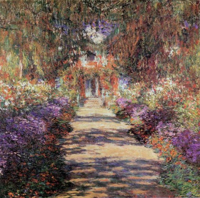 the path painting, a Claude Monet paintings reproduction, we never sell the path poster