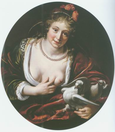 venus with two doves painting, a Paulus Moreelse paintings reproduction, we never sell venus with