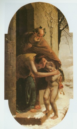 winter, let cubidon home painting, a Jea Francois Millet paintings reproduction, we never sell