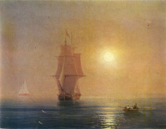 Aivazovsky Oil Painting Reproductions - The Sea