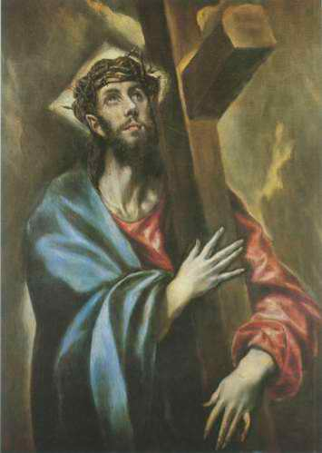 Christ Carrying the Cross painting, a El Greco paintings reproduction, we never sell Christ Carrying