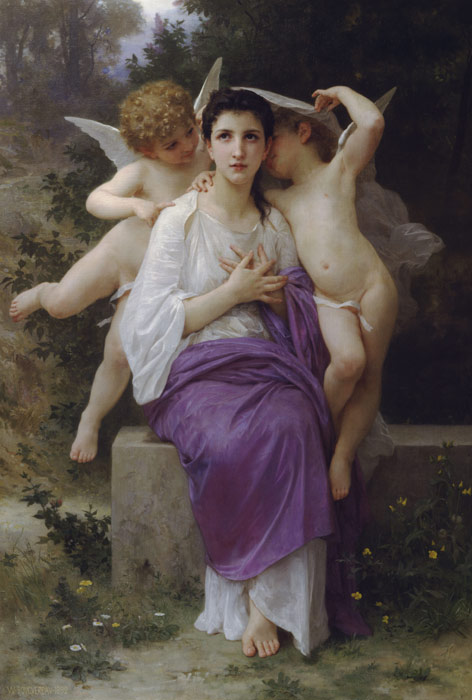 Oil Painting Reproduction of Bouguereau - The Hearts Awakening