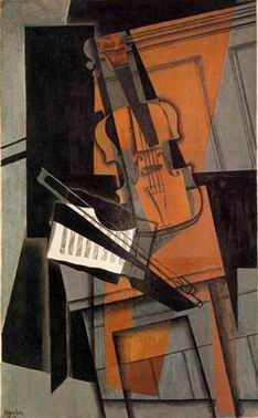 Guitar painting, a Juan Gris paintings reproduction