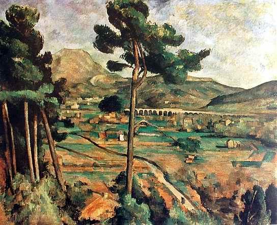 Mount Sainte-Victoire painting, a Paul Cezanne paintings reproduction