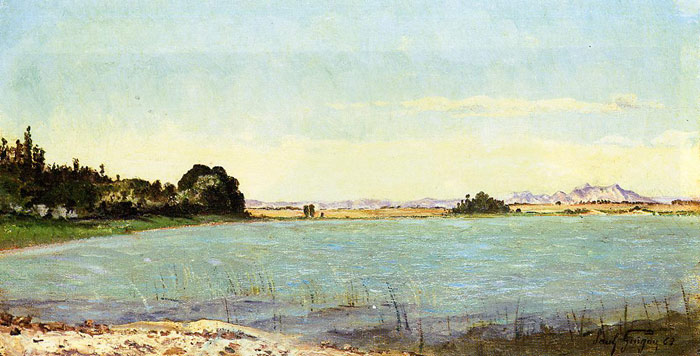 Oil Painting Reproduction of Guigou- A Lake in Southern France