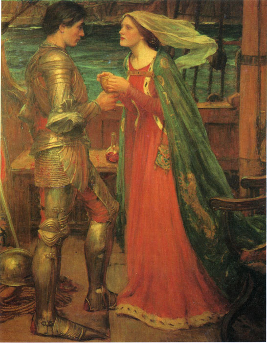 Waterhouse Oil Painting Reproductions - Tristan and Isolde with the Potion