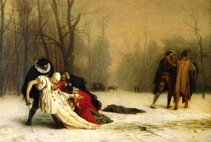 Gerome Oil Painting Reproductions - Duel after the Masked Ball