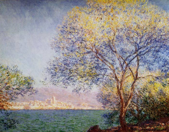 Monet Oil Painting Reproductions - Antibes in the Morning