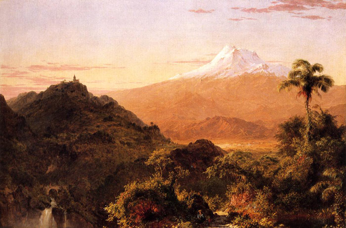 Oil Painting Reproduction of Churc - South American Landscape