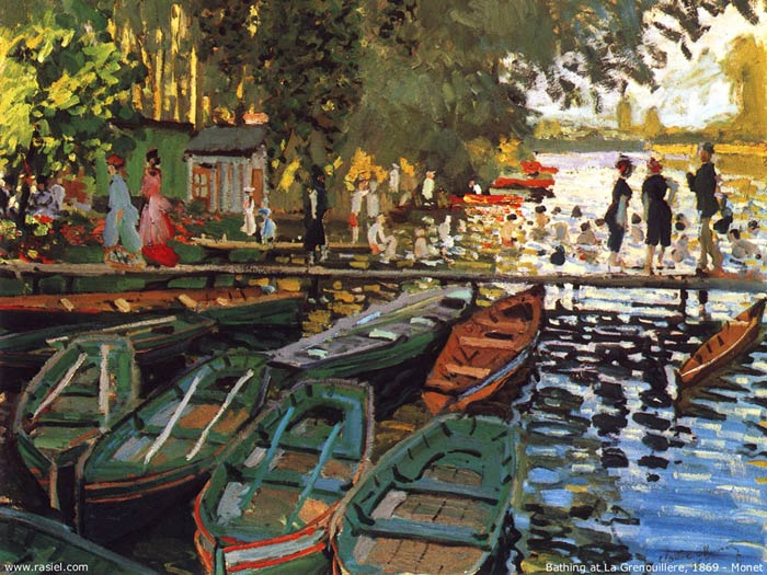 Oil Painting Reproduction of Monet- Bathing at la Grenouillere