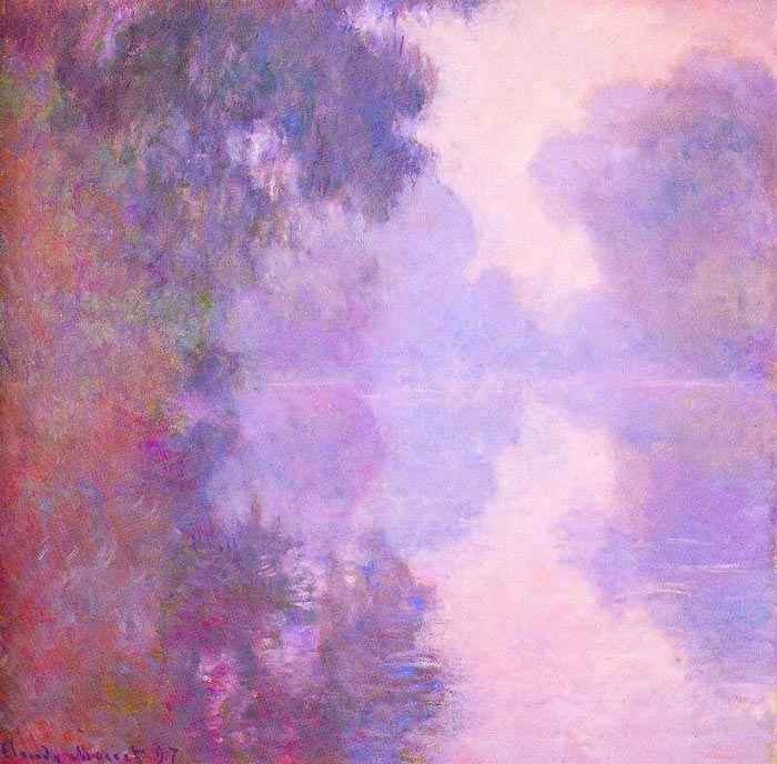 Oil Painting Reproduction of Monet- Misty morning on the Seine