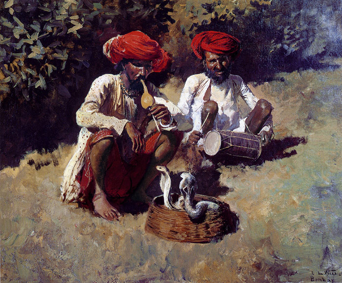 Oil Painting Reproduction of Weeks- The Snake Charmers