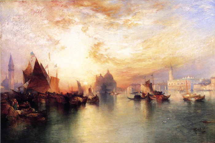 Moran Oil Painting Reproductions - Venice, from near San Giorgio