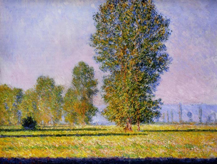 Oil Painting Reproduction of Monet- Landscape with Figures, Giverny