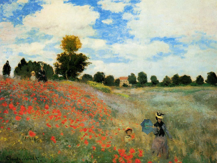 Oil Painting Reproduction of Monet- Poppies at Argenteuil