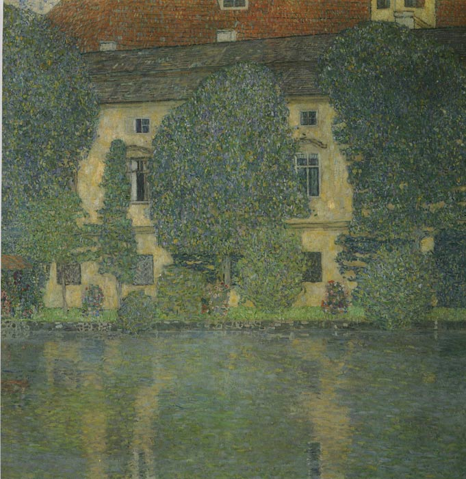 Oil Painting Reproduction of Klimt- Scloss Kammer on the Attersee III