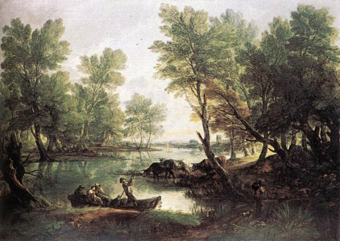 Gainsborough Oil Painting Reproductions - River Landscape