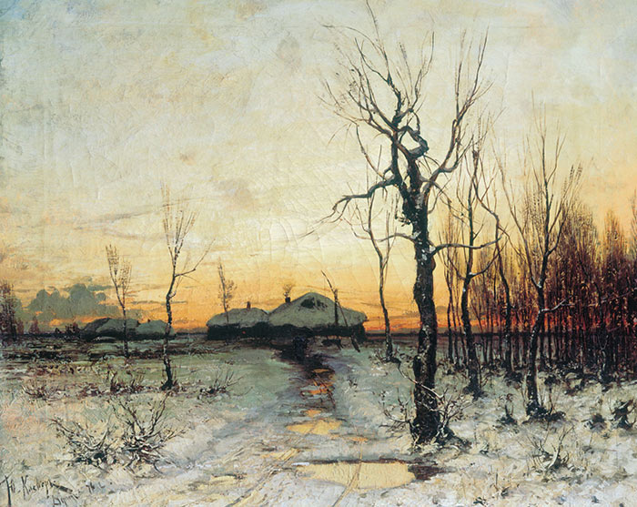 Oil Painting Reproduction of Klever - Winter Landscape