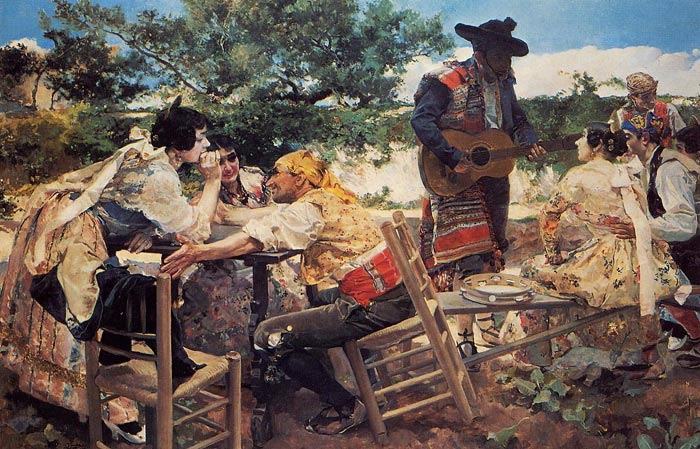 Oil Painting Reproduction of Sorolla y Bastida- Valencian Scene