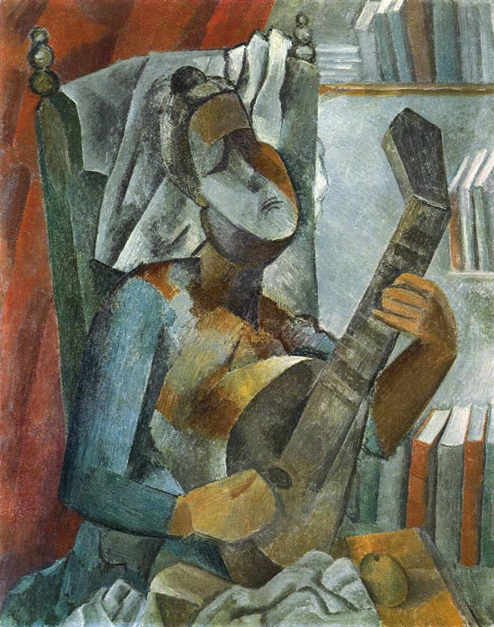 Oil Painting Reproduction of Picasso- Woman Playing the Mandolin