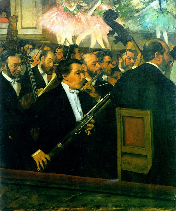 Oil Painting Reproduction of Degas- The Orchestra of the Op?ra