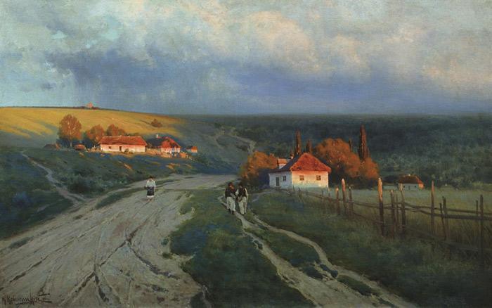 Oil Painting Reproduction of Kryzhitskii - Ukrainian Evening