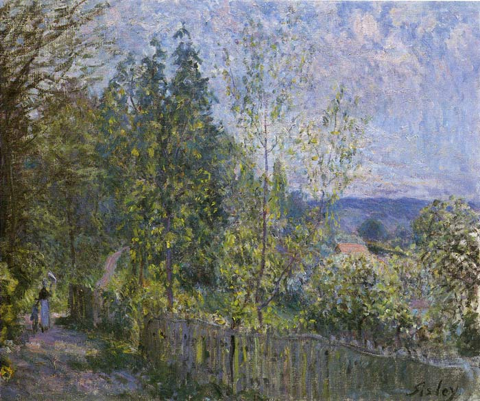 Oil Painting Reproduction of Sisley- Forest Path