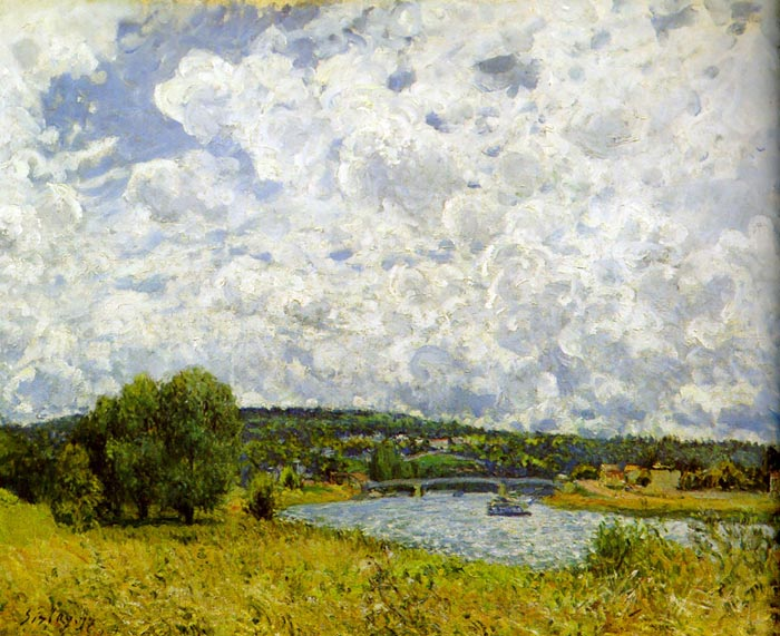 Oil Painting Reproduction of Sisley- The Seine at Suresnes