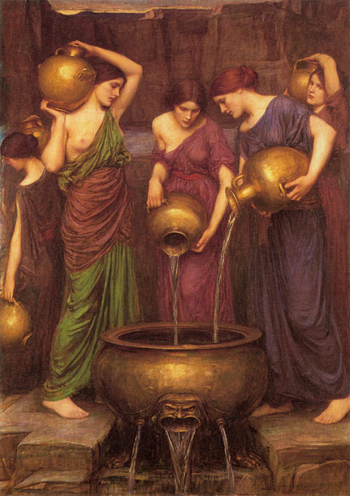 Oil Painting Reproduction of Waterhouse- The Danaides