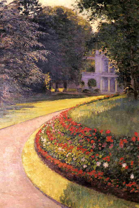 Oil Painting Reproduction of Caillebotte- The Park at Yerres