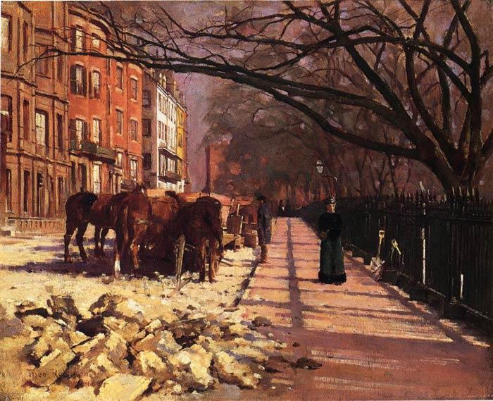 Robinson Oil Painting Reproduction - Beacon Street, Boston