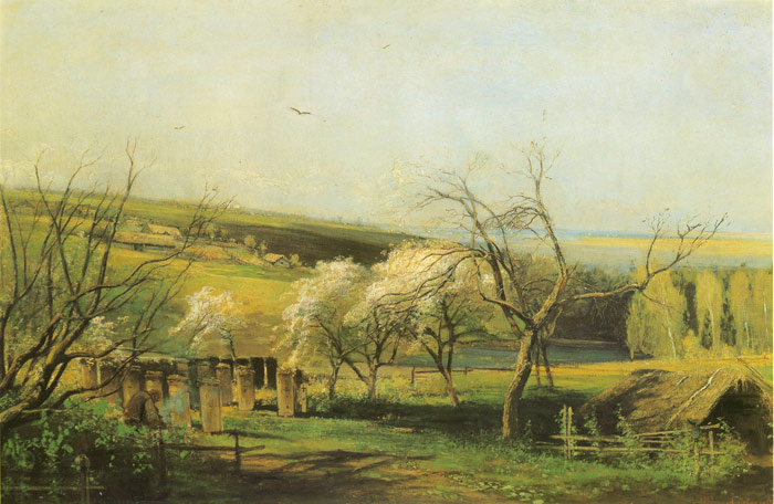 Savrasov Oil Painting Reproductions- Rural Landscape
