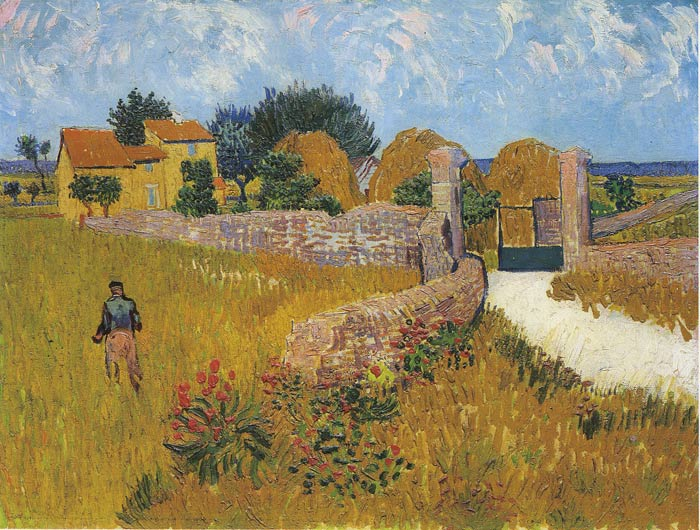 Oil Painting Reproduction of van Gogh- Cottage