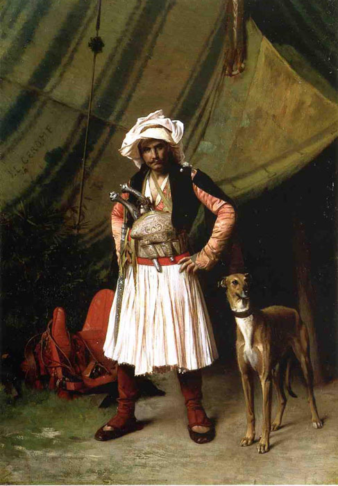 Oil Painting Reproduction of Gerome- Bashi-Bazouk and His Dog