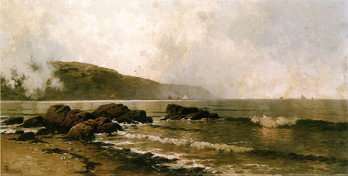 Oil Painting Reproduction of Alfred Bricher - The Coast at Grand Manan