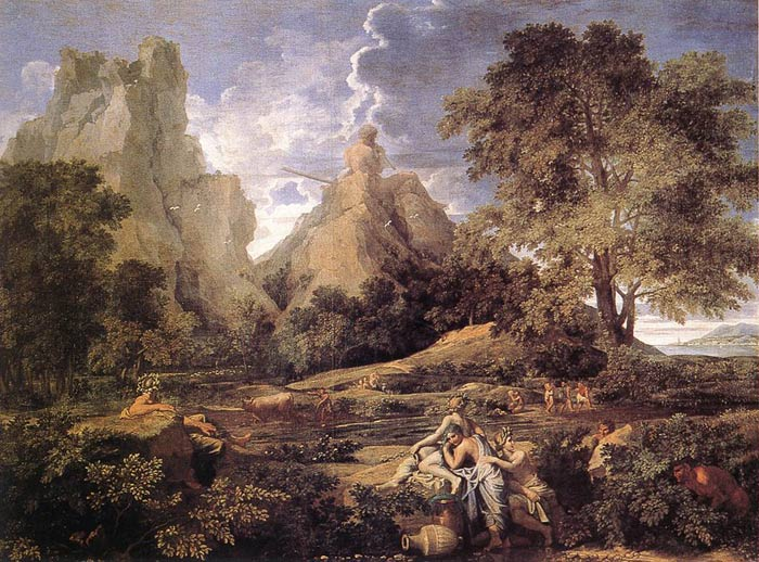 Oil Painting Reproduction of Poussin- Landscape with Polyphemus