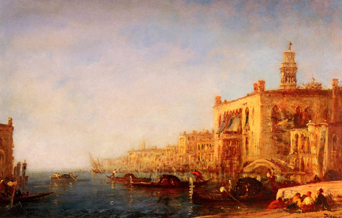 Ziem Oil Painting Reproduction - Venise, Le Grand Canal [Venice, the Grand Canal]