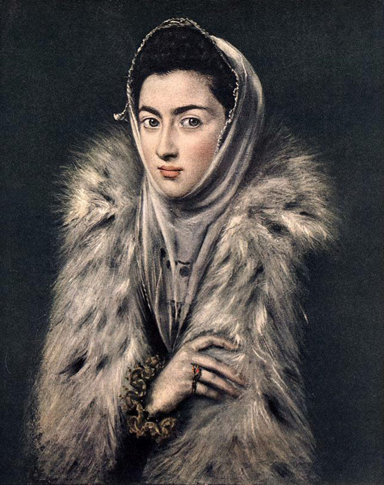 El Greco Oil Painting Reproductions- Lady with a Fur